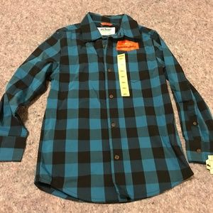 BNWT Urban Pipeline Plaid Button Front Shirt